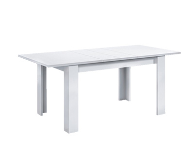 Mesa de comedor rectangular extensible blanca for Mesa comedor rectangular