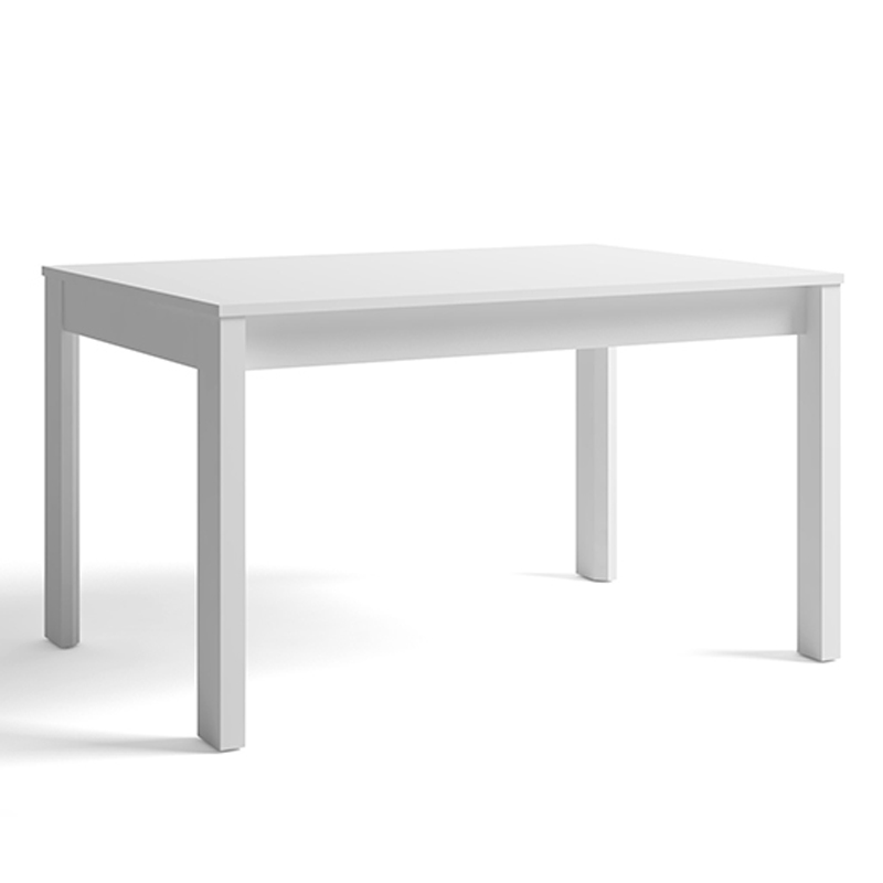 Mesa comedor rectangular extensible a 130 x 90 en color blanco barata