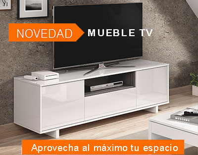 Mueble blanco brillo TV modelo RODA