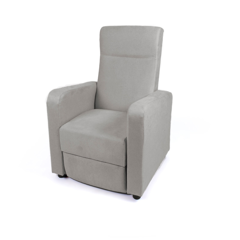 Butaca reclinable piel pvc marron modelo easy for Sillon gris