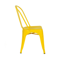 Silla apilable de estilo industrial en color amarillo FACTORY