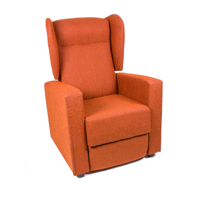 Butaca Reclinable en color teja modelo TORINO
