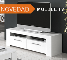 Mueble TV blanco brillo modelo GENOVA