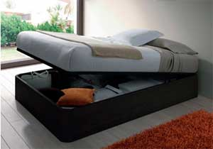 Cama canape abatible en color negro